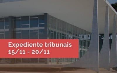 Expedientes nos Tribunais no feriado da Proclamação da República