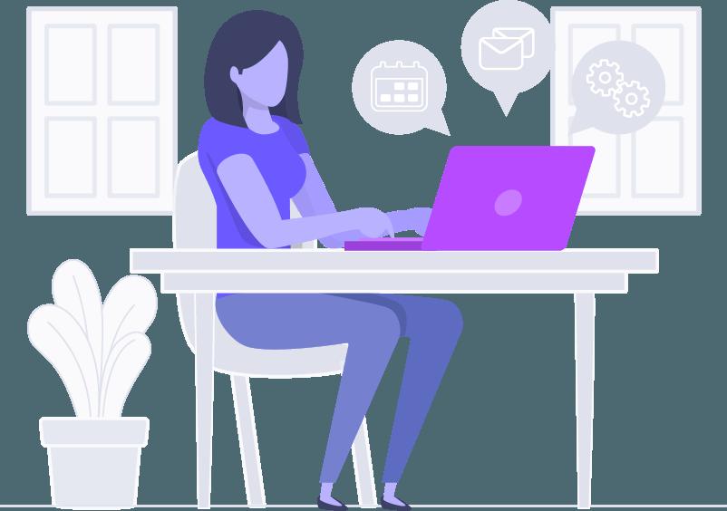 Mulher usando Legalcloud para reduzir risco no contencioso