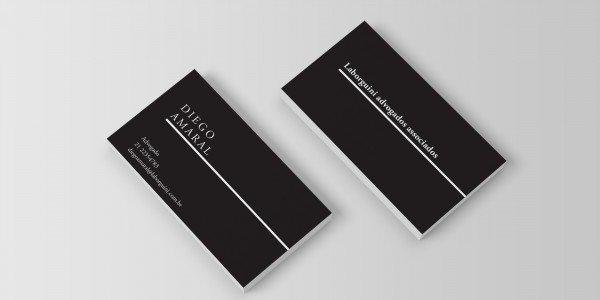 Modelo 1 de cartão de visitas para advogado