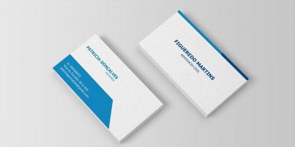 Modelo 10 de cartão de visitas para advogado