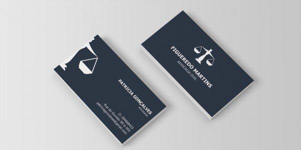 Modelo 11 de cartão de visitas para advogado