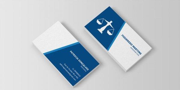 Modelo 12 de cartão de visitas para advogado