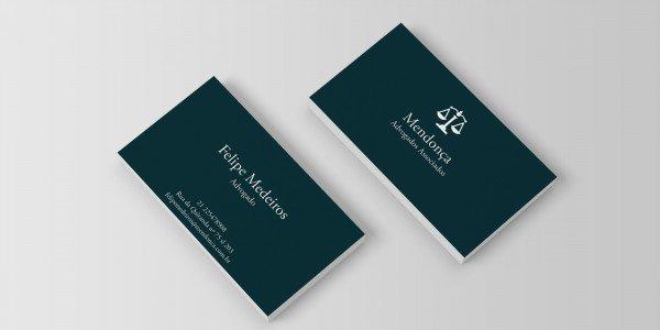 Modelo 2 de cartão de visitas para advogado