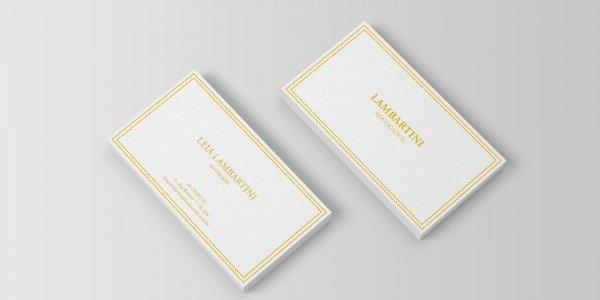 Modelo 3 de cartão de visitas para advogado