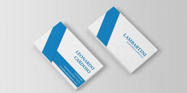 Modelo 5 de cartão de visitas para advogado