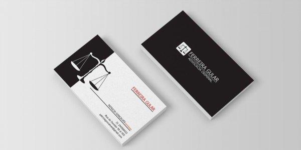 Modelo 6 de cartão de visitas para advogado