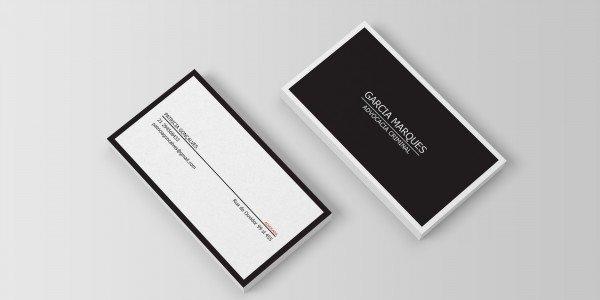Modelo 8 de cartão de visitas para advogado