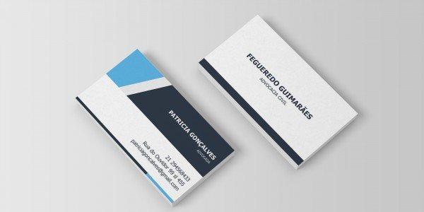 Modelo 9 de cartão de visitas para advogado